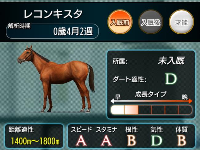 【ダビマス】スピードA・スタミナAの馬が産まれた!